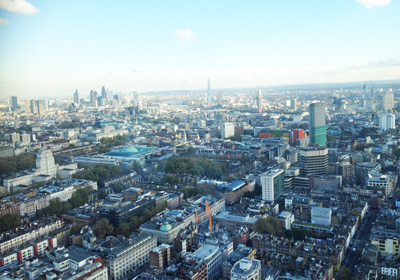 The view of London from the top of BT Tower