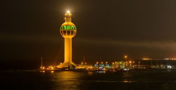 Jeddah Light (Jeddah Port Control Tower) is an active lighthouse in Jeddah, Saudi Arabia. With a height of approximately 113 metres (371 ft) it has a credible claim to be the world's tallest lighthouse
