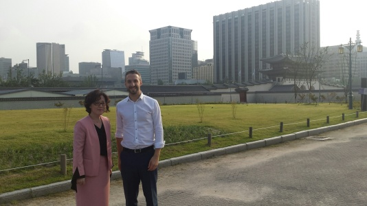 Brendan Roach and Eona Kim in Seoul