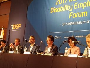 Brendan Roach speaking at the 2017 International Disability Employment Forum