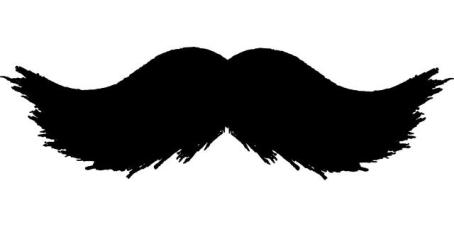 Silhouette of a moustache