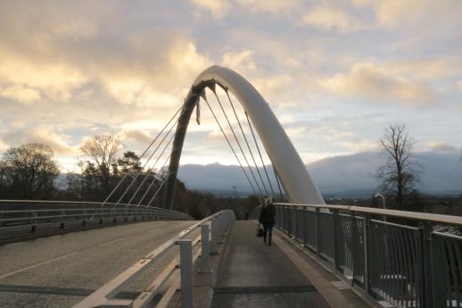The bridge leading to RBS's headquarters in Edinburgh