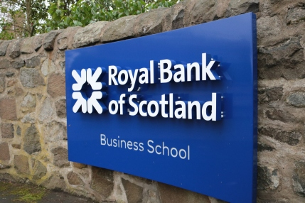 Sign for RBS Business School, Edinburgh