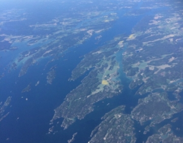 Coastline of Sweden from the air