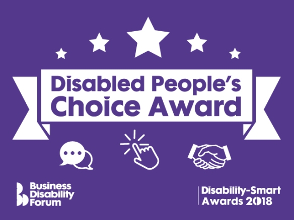 Disabled People's Choice Award logo - purple and white