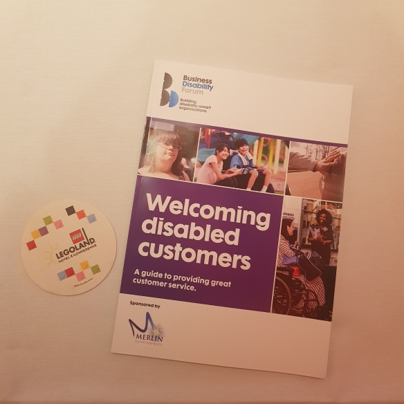 Welcoming disabled customers guide and a Legoland coaster